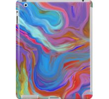 AGATE OIL PAINTING: MYSTERIOUS BLUES iPad Case/Skin