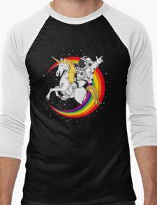 Astronaut riding unicorn death metal Men's Baseball ¾ T-Shirt