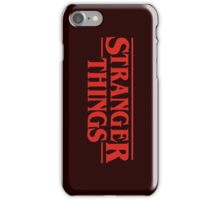 The Stranger Things  iPhone Case/Skin