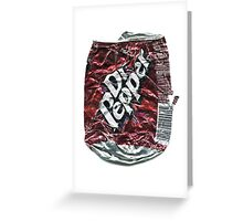 Crushed Dr Pepper Tin Greeting Card