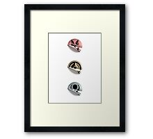 Halo Peeling Stickers Framed Print