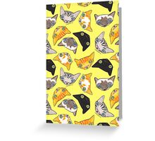 """""""Oro?"""" Cats-Canary Greeting Card"""