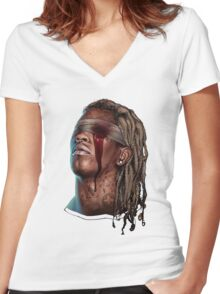 Young Thug - Slim Season Women's Fitted V-Neck T-Shirt