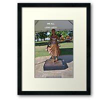 Lucille Ball Statue. Framed Print