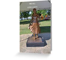 Lucille Ball Statue. Greeting Card