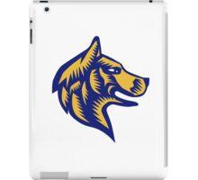 Husky Dog Head Woodcut iPad Case/Skin
