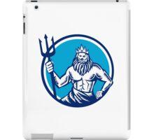 Poseidon Trident Circle Woodcut iPad Case/Skin