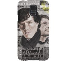 Sherlock TV Series Favourite Quotes Samsung Galaxy Case/Skin