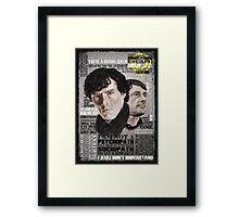 Sherlock TV Series Favourite Quotes Framed Print