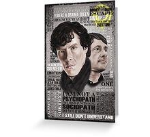 Sherlock TV Series Favourite Quotes Greeting Card