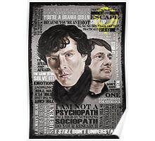 Sherlock TV Series Favourite Quotes Poster