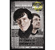 Sherlock TV Series Favourite Quotes Photographic Print