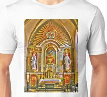 St Mary L'Eglise, Normandie Unisex T-Shirt