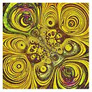 Circular Sunflowers by Barbara Storey