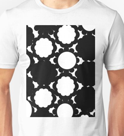 Black and White Circle Graphic Pattern Unisex T-Shirt