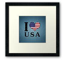 I LOVE USA (black) Framed Print