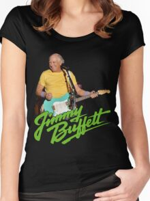 SAN01 Jimmy Buffett and the Coral Reefer Band TOUR 2016 Women's Fitted Scoop T-Shirt