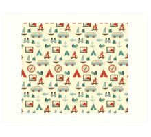 Simple abstract seamless tourist pattern Art Print