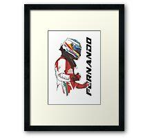 Fernando Alonso Framed Print