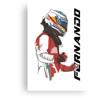 Fernando Alonso Canvas Print