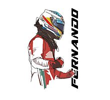 Fernando Alonso Photographic Print