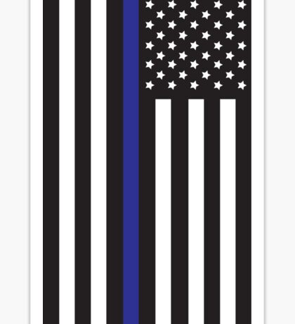 Blue Lives Matter Flag Sticker