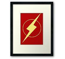 Simplistic Flash Framed Print