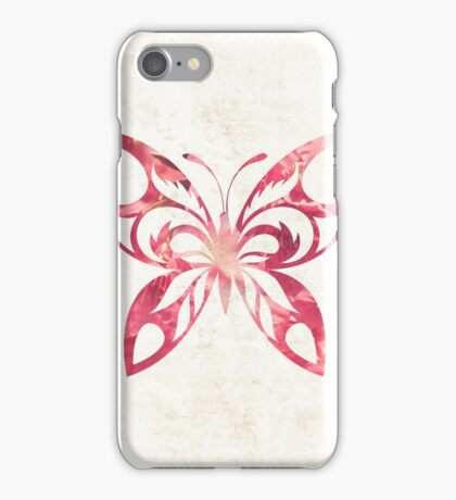 Pink Butterfly iPhone Case/Skin