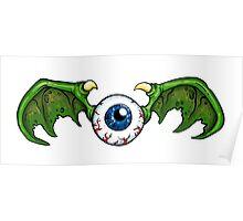Demon Winged Eyeball Poster
