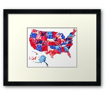 Watercolor Countries - USA Framed Print
