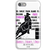 BARREL RACER: Pink/Black  iPhone Case/Skin
