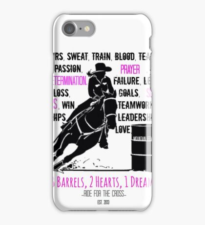 BARREL RACER: Pink/Black  iPhone Case/Skin