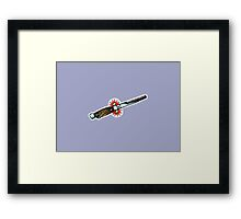 Switch(blade) Comb Framed Print