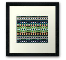 Colorful bright tribal print Framed Print