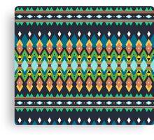Colorful bright tribal print Canvas Print