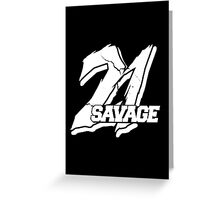 21 Savage B Greeting Card
