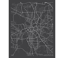 Leipzig Map, Germany - Gray Photographic Print