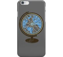 Global Cyclist (blue) iPhone Case/Skin