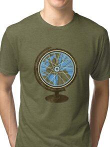 Global Cyclist (blue) Tri-blend T-Shirt