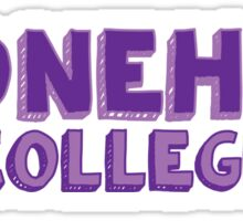 Stonehill College Sticker