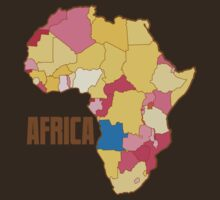 Africa with map of nations  by jazzydevil