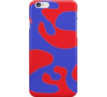 Abstract red blue iPhone Case/Skin