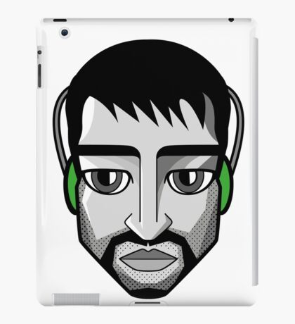 Headphones Guy iPad Case/Skin