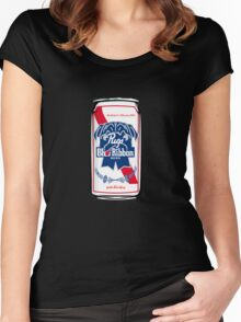 Pugs Blue Ribbon Women's Fitted Scoop T-Shirt