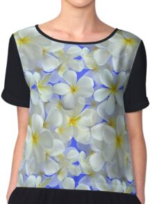 Frangipani - White and Yellow Chiffon Top