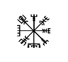 Vegvísir (Viking Compass) Photographic Print