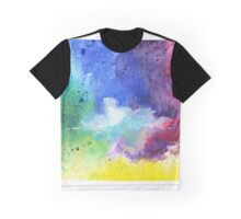 Watercolor Map of Colorado, USA in Rainbow Colors - Giclee Print of My Own Watercolor Painting Graphic T-Shirt