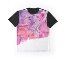 Watercolor Map of Connecticut, USA in Pink and Purple - Giclee Print of My Own Watercolor Painting Graphic T-Shirt