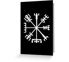 Vegvísir (Viking Compass) Greeting Card