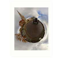 St Columb's Cathedral from Derry's Walls at Church Bastion, Derry Art Print